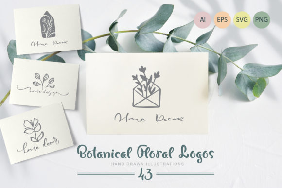 Botanical Floral Logos Graphic Logos By Happy Letters