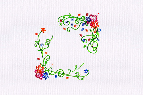 Bright Vine Single Flowers & Plants Embroidery Design By DigitEMB