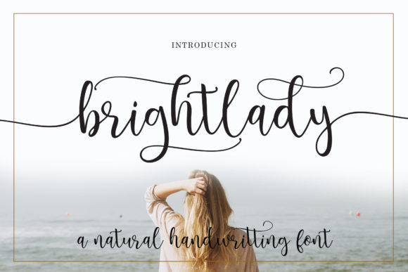 Print on Demand: Brightlady Script & Handwritten Font By Sulthan Studio - Image 1