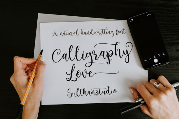 Print on Demand: Brightlady Script & Handwritten Font By Sulthan Studio - Image 3