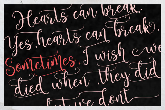 Print on Demand: Brightlady Script & Handwritten Font By Sulthan Studio - Image 6