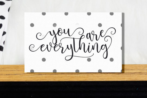 Print on Demand: Brightlady Script & Handwritten Font By Sulthan Studio - Image 8