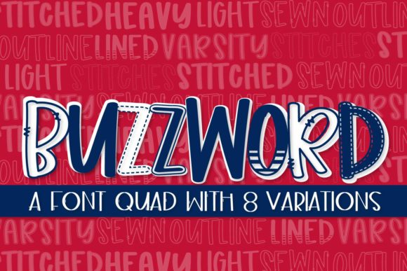 Print on Demand: Buzzwords Display Font By Justina Tracy