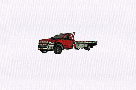 Car Tow Truck Transportation Embroidery Design By DigitEMB