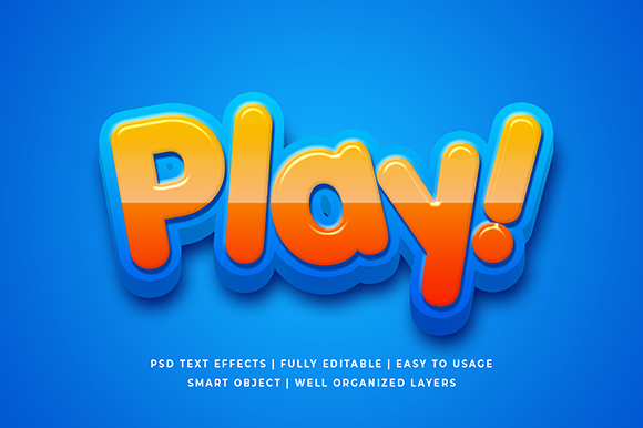 Download Free Cartoon Colorful 3d Text Effect Mockup Graphic By Syifa5610 Creative Fabrica for Cricut Explore, Silhouette and other cutting machines.