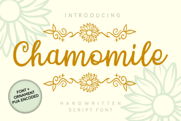Print on Demand: Chamomile Script & Handwritten Font By Dreamink (7ntypes)