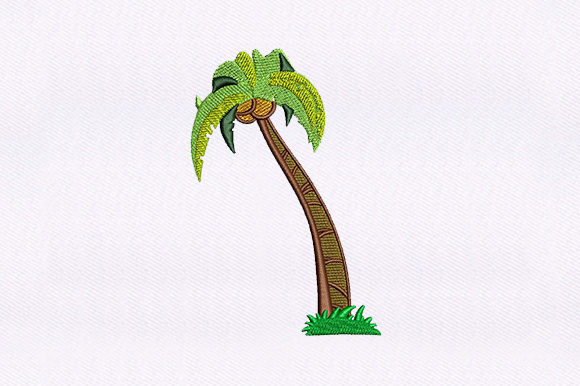 Coconut Tree Forest & Trees Embroidery Design By DigitEMB