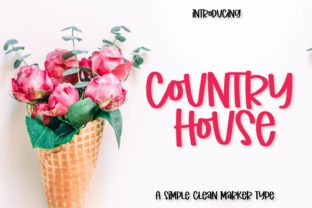 Print on Demand: Country House Display Font By Justina Tracy