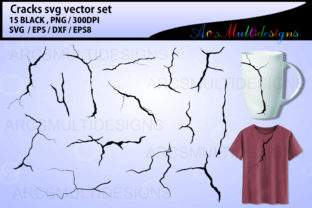Print on Demand: Cracks Clipart Graphic Illustrations By Arcs Multidesigns