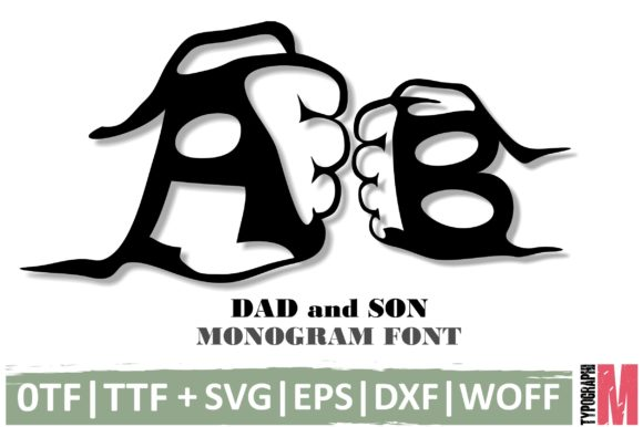 Download Free Dad And Son Font By Typography Morozyuk Creative Fabrica for Cricut Explore, Silhouette and other cutting machines.