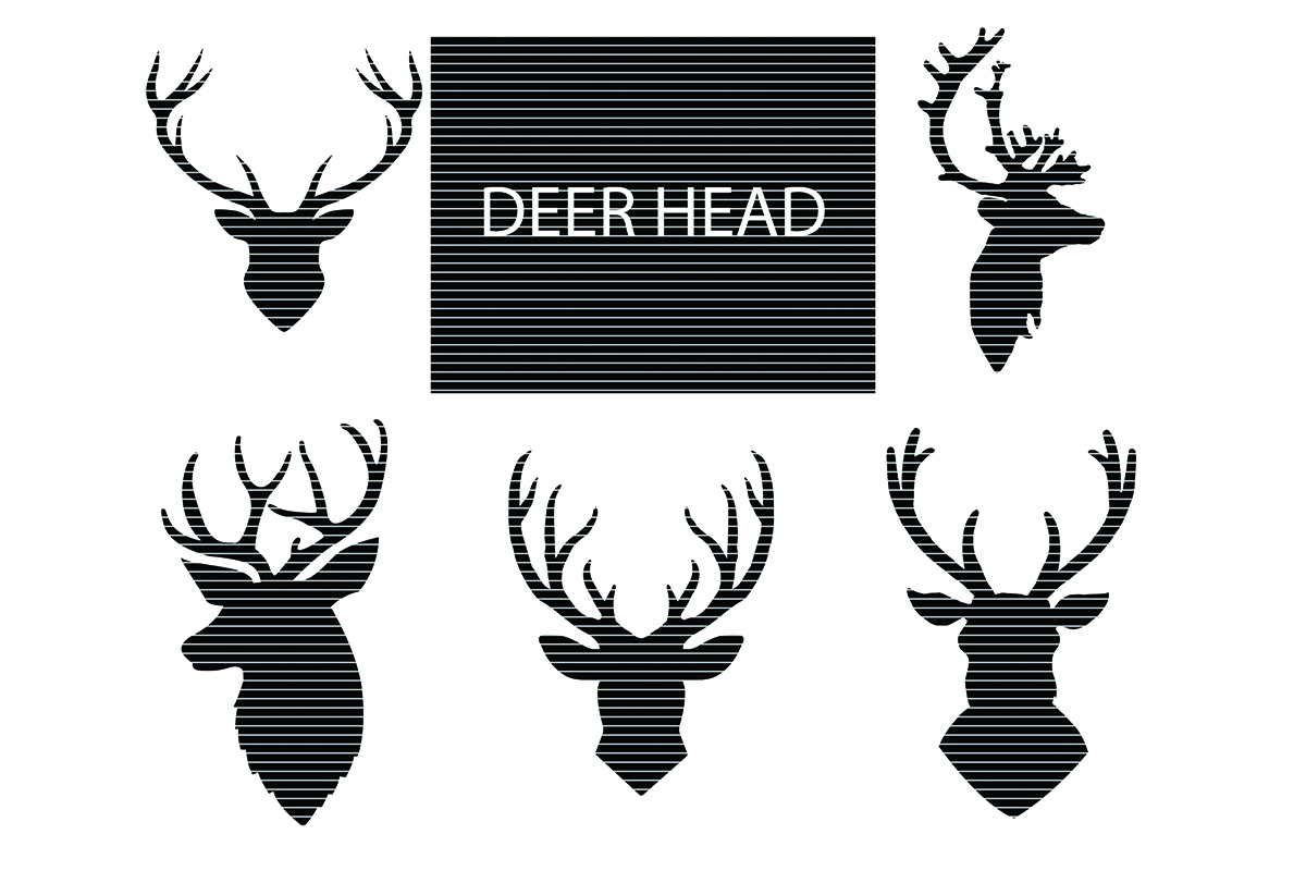 Download Free Deer Head Silhouette Clip Art Graphic By Meshaarts Creative for Cricut Explore, Silhouette and other cutting machines.