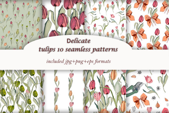 Print on Demand: Delicate Tulips Graphic Illustrations By ElenaZlataArt