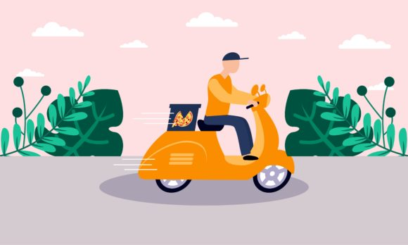 Download Free Delivery On The Way Concept Illustration Graphic By 2qnah for Cricut Explore, Silhouette and other cutting machines.
