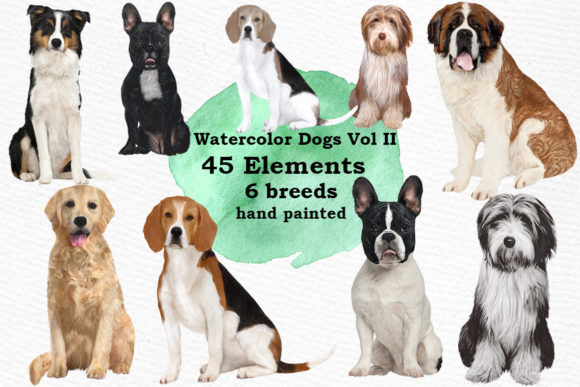 Dog Clipart Dog Breeds Pet Clipart Gráfico Ilustraciones Por LeCoqDesign