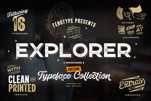 Print on Demand: Explorer Script & Handwritten Font By fenotypefonts