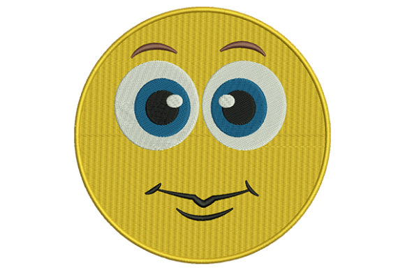 Eyes Open Emoji Boys & Girls Embroidery Design By DigitEMB