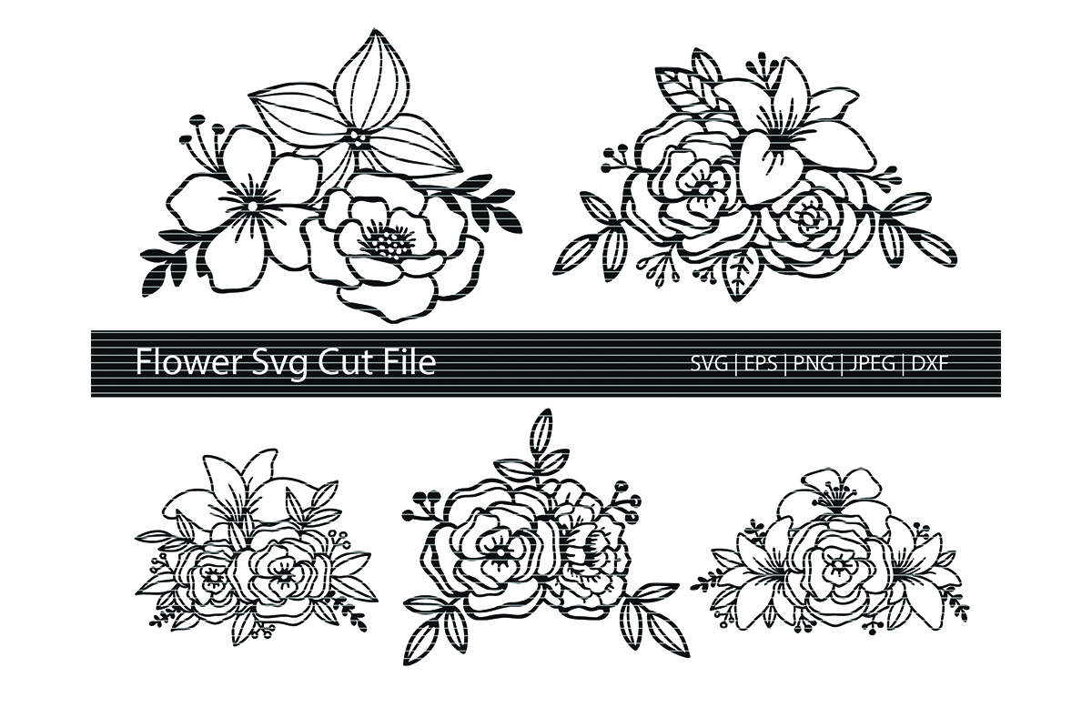 Download Free Flower Cut File Bundle Graphic By Meshaarts Creative Fabrica for Cricut Explore, Silhouette and other cutting machines.