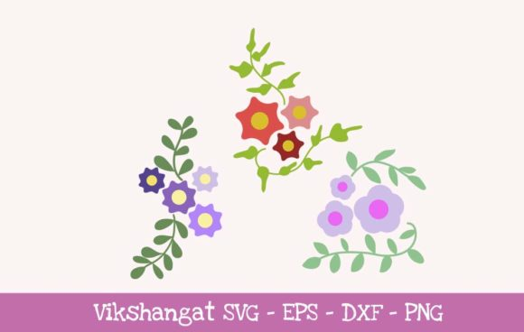 Download Free Flowers Floral Graphic By Vikshangat Creative Fabrica SVG Cut Files