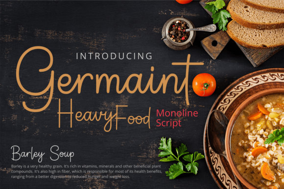 Print on Demand: Germaint Script & Handwritten Font By brithostype