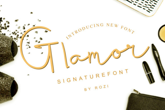 Print on Demand: Glamor Script & Handwritten Font By twinletter