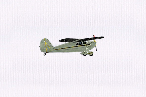 Grasshopper Airplane Transportation Embroidery Design By DigitEMB