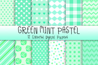 Print on Demand: Green Mint Pastel Background Graphic Backgrounds By PinkPearly
