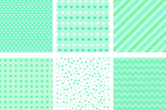 Green Mint Pastel Background Graphic Backgrounds By PinkPearly - Image 3