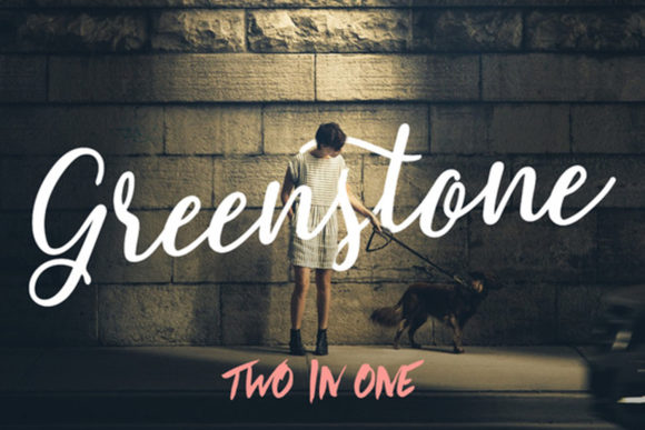 Print on Demand: Greenstone Script & Handwritten Font By Hustle Supply Co.
