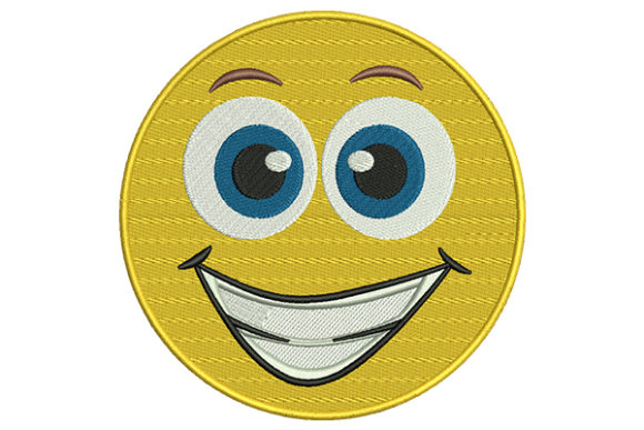 Grinning Emoji Boys & Girls Embroidery Design By DigitEMB