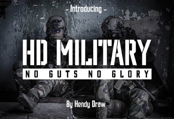 Print on Demand: HD Military Display Font By hendy draw