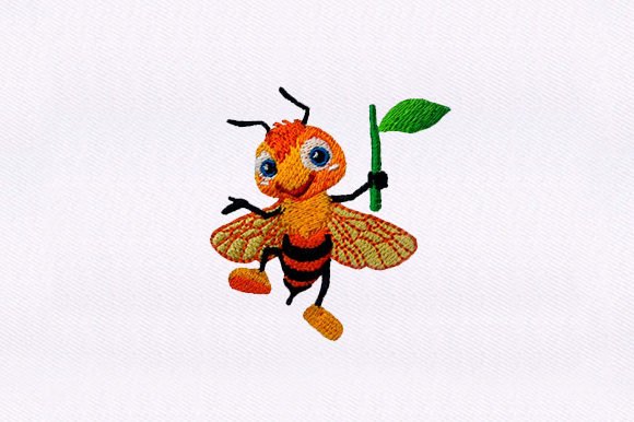 Happy Honey Bee Bugs & Insects Embroidery Design By DigitEMB