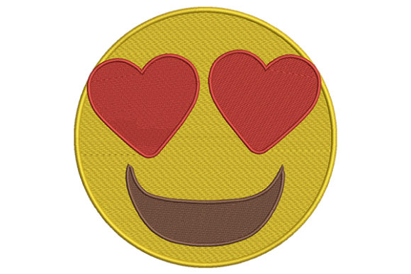 Heart Eyes Emoji Boys & Girls Embroidery Design By DigitEMB