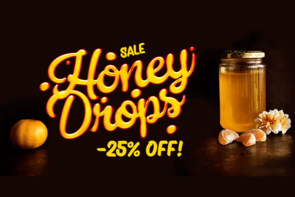 Print on Demand: Honey Drops Script & Handwritten Font By fenotypefonts