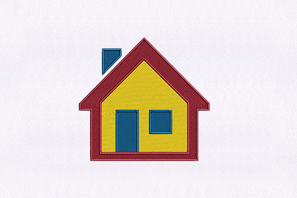 House Symbol Icon House & Home Embroidery Design By DigitEMB