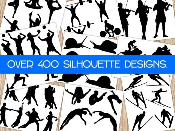 Print on Demand: Huge Silhouette Vector Art Bundle Graphic Crafts By ermannofficial