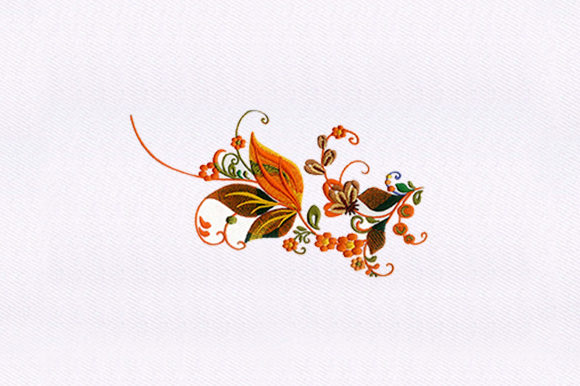 Leaves Vines Single Flowers & Plants Embroidery Design By DigitEMB