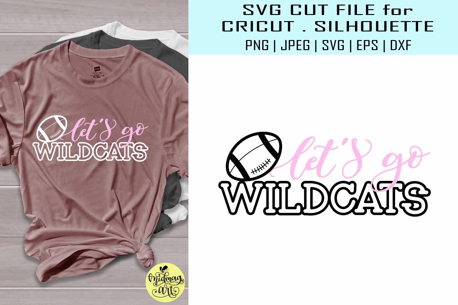 Download Free Let S Go Wildcats Football Svg Grafico Por Midmagart Creative for Cricut Explore, Silhouette and other cutting machines.
