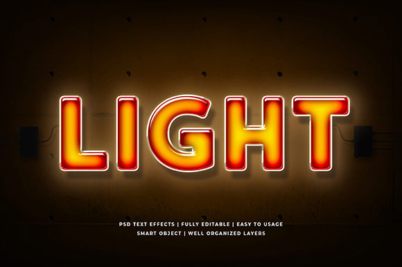 Light Neon 3d Text Effect Mockup Graphic By Syifa5610 Creative