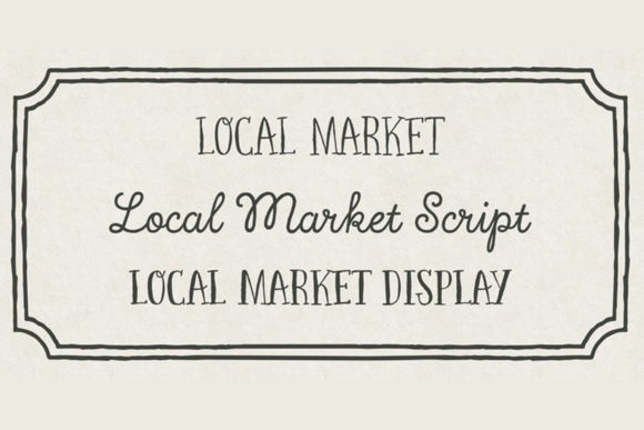 Print on Demand: Local Market Script & Handwritten Font By cultivatedmind.types - Image 7