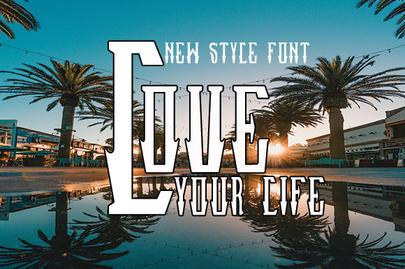 Print on Demand: Love Your Life Serif Font By Arf_Studio - Image 1