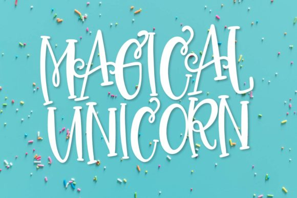 Print on Demand: Magical Unicorn Duo Display Font By Justina Tracy