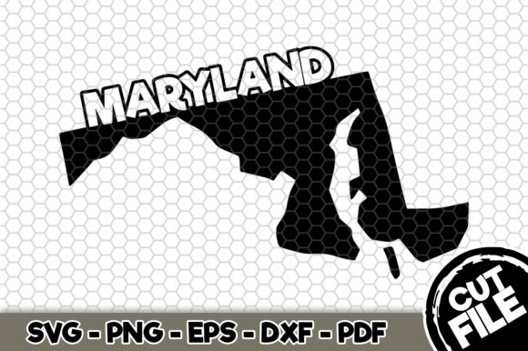 Download Free Maryland State Name Graphic By Svgexpress Creative Fabrica for Cricut Explore, Silhouette and other cutting machines.