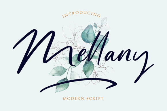 Print on Demand: Mellany Script & Handwritten Font By formatikastd