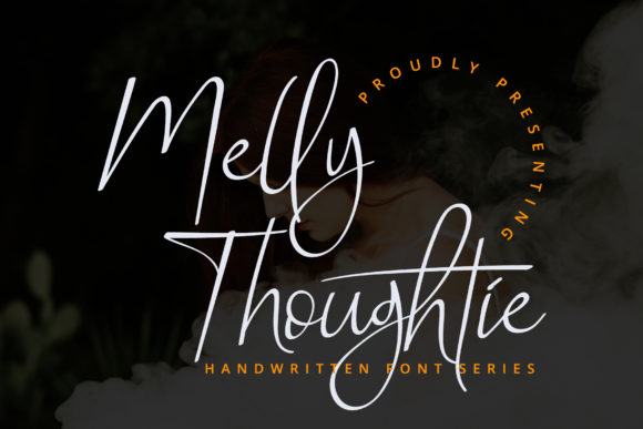 Print on Demand: Melly Thoughtie Script & Handwritten Font By airotype