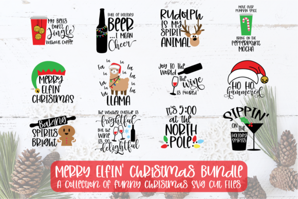 Merry Elfin' Christmas Bundle Graphic Crafts By Sheryl Holst