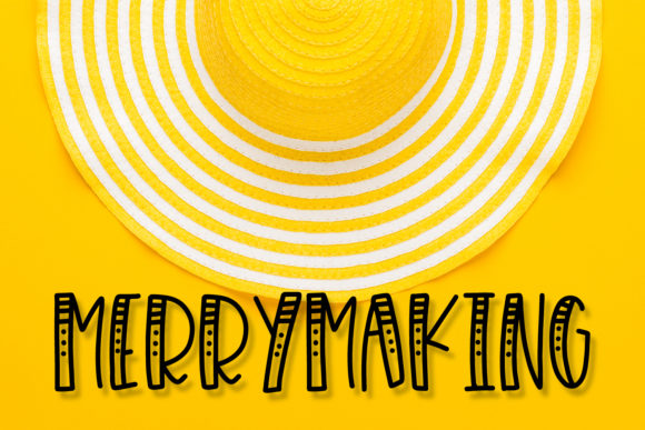 Print on Demand: Merrymaking Display Font By Justina Tracy