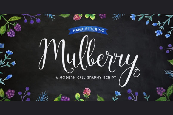 Print on Demand: Mulberry Script & Handwritten Font By cultivatedmind.types