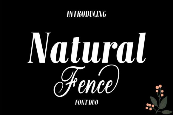 Print on Demand: Natural Fence Script & Handwritten Font By Bot Kerling