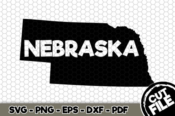 Download Free Nebraska State Name Graphic By Svgexpress Creative Fabrica for Cricut Explore, Silhouette and other cutting machines.