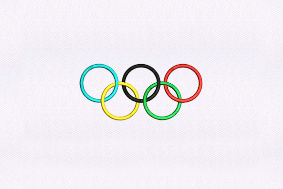 Olympic Logo Sports Embroidery Design By DigitEMB